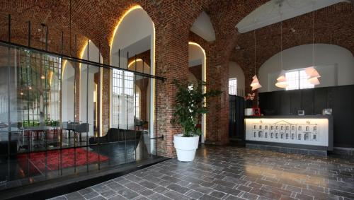 The lobby or reception area at Hotel The Lodge Vilvoorde