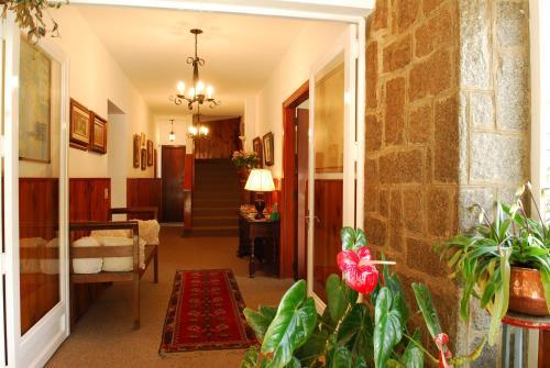 O saguão ou recepção de Europa Hotel