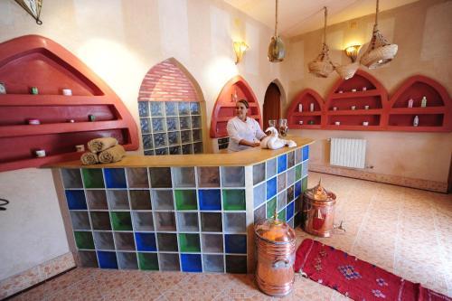 El vestíbulo o zona de recepción de Kasbah Hotel Tombouctou