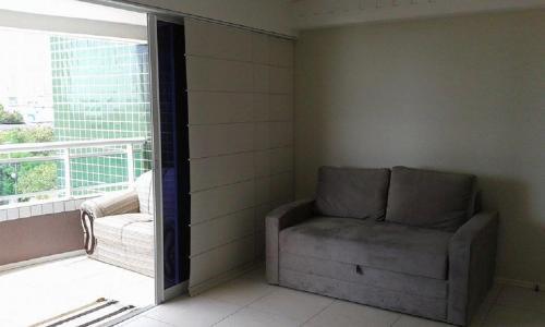 A seating area at Flat Studio Iracema apto 602