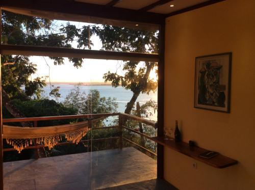 A balcony or terrace at Pousada VillaBahia