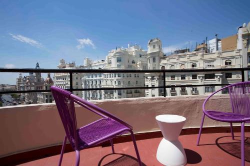 A balcony or terrace at Casual Vintage Valencia