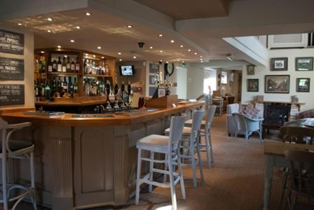 The lounge or bar area at The Hare and Hounds