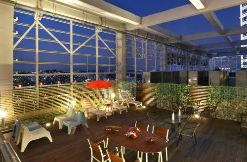 Restaurant ou autre lieu de restauration dans l'établissement Hotel Skypark Kingstown Dongdaemun