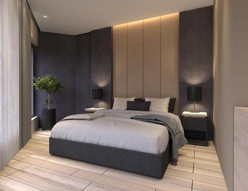 Кровать или кровати в номере Twister Apartments