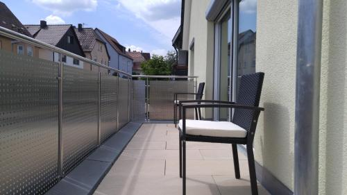 A balcony or terrace at Zimmervermietung im Zentrum Waiblingens