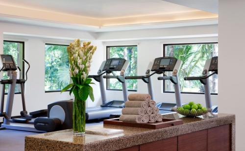 The fitness center and/or fitness facilities at Goa Marriott Resort & Spa