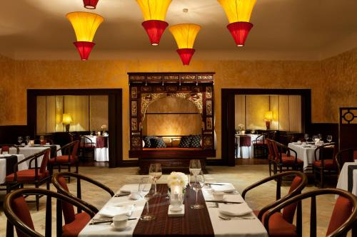 A restaurant or other place to eat at Goa Marriott Resort & Spa