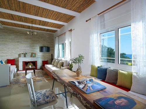A seating area at Beachfront Villas on Crete - Pelagaios