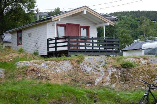 A garden outside Volsdalen Camping