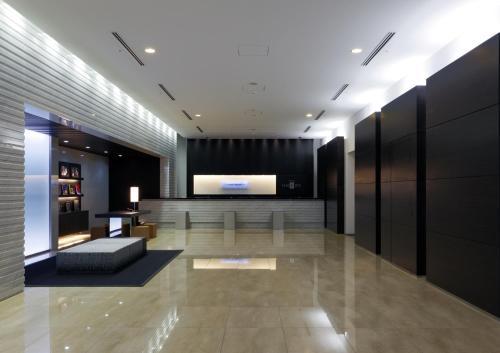 The lobby or reception area at HOTEL UNIZO Osaka Yodoyabashi