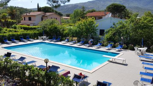 The swimming pool at or near Hotel Lilly