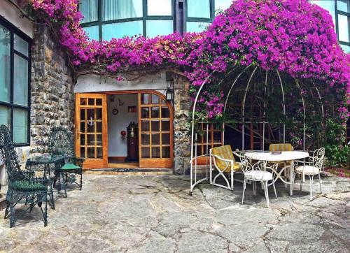 A porch or other outdoor area at El Ancla