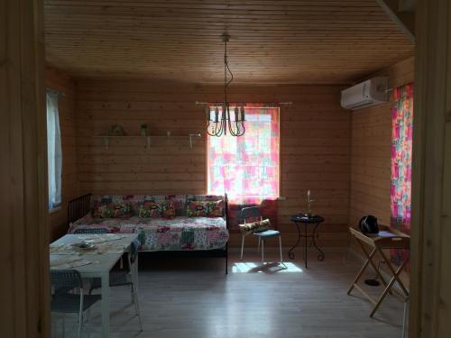 Гостиная зона в Загородный дом с Баней