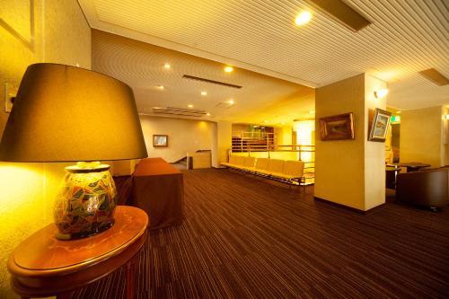 The lobby or reception area at Kochi Sunrise Hotel