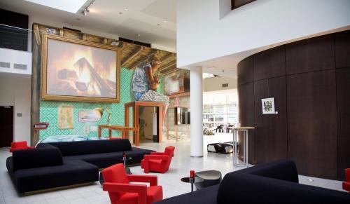 De lounge of bar bij Dutch Design Hotel Artemis