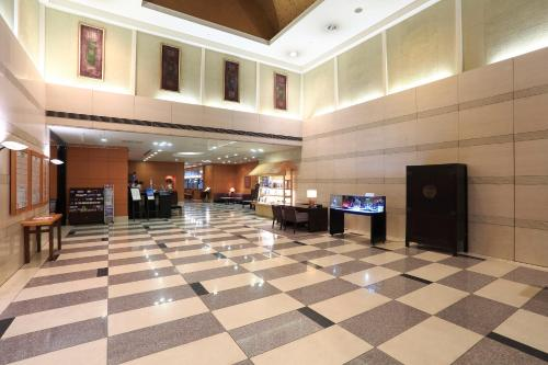 The lobby or reception area at Dai-ichi Hotel Ryogoku