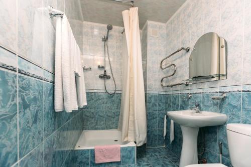 Ванная комната в Отель Калевала