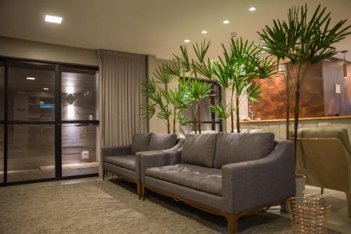 The lobby or reception area at Amenit Hotel