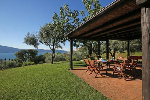 A patio or other outdoor area at Villa dei Rosmarini