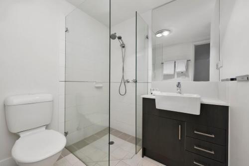 A bathroom at Quest Dandenong