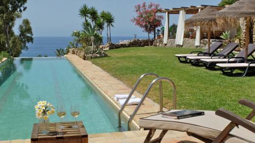 Jardín al aire libre en Villa Albaida 4