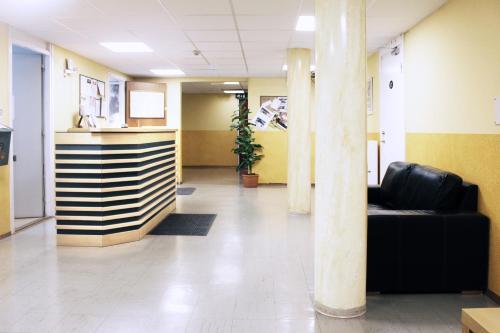 Lobbyn eller receptionsområdet på Drottninggatans Vandrarhem