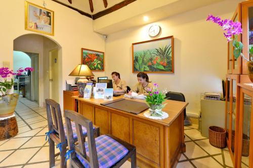 The lobby or reception area at Supatra Hua Hin Resort