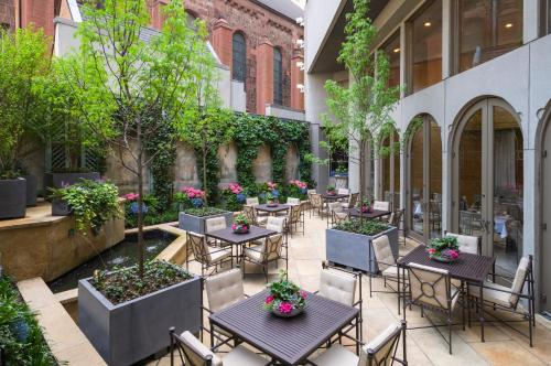 A porch or other outdoor area at The Rittenhouse Hotel