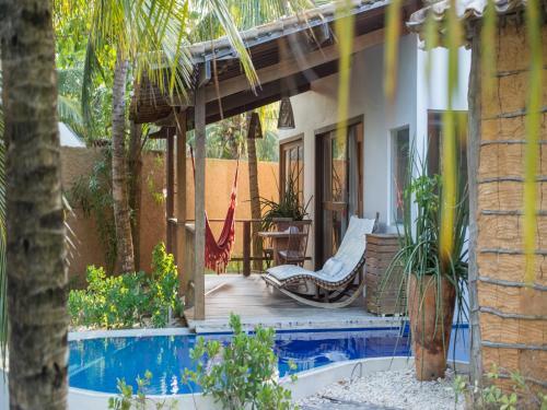 A patio or other outdoor area at Pousada do Toque