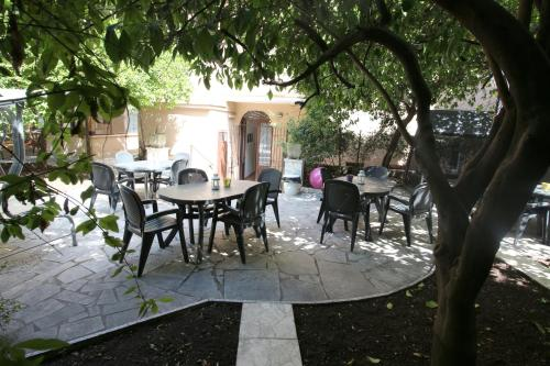 New Generation Hostel Rome Center餐廳或用餐的地方