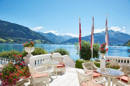 A porch or other outdoor area at Grand Hotel Zell am See