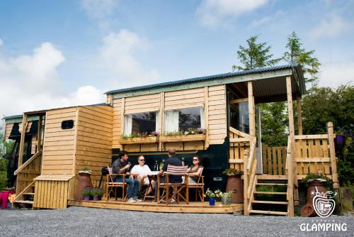 A porch or other outdoor area at Burren Glamping