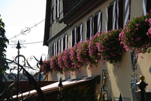 A balcony or terrace at Hotel Brauereigasthof Landwehr-Bräu