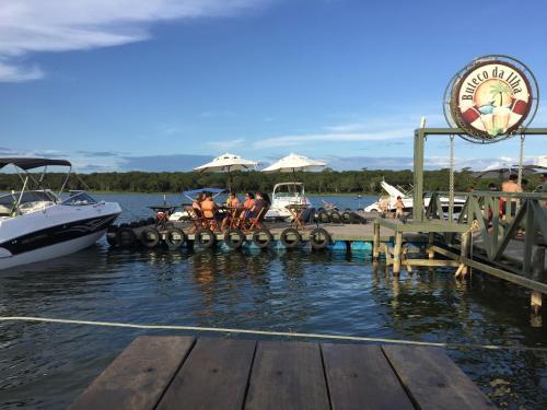 Hóspedes ficando em Resort da Ilha