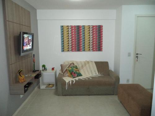 Uma área de estar em JTR México Apartamento