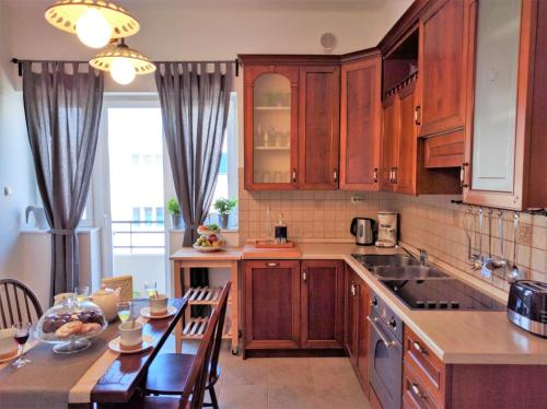 A kitchen or kitchenette at Luxury Apartment Delišan