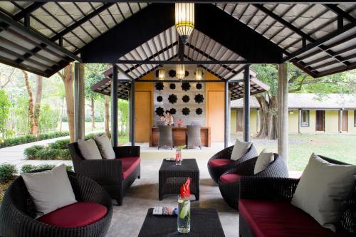 The lounge or bar area at U Inchantree Kanchanaburi