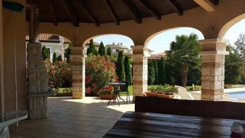 Patio o area all'aperto di Villa Parenzo