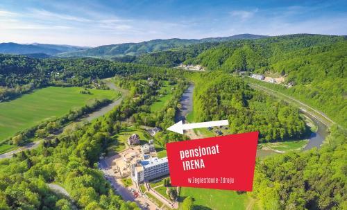 Widok z lotu ptaka na obiekt Pensjonat Irena