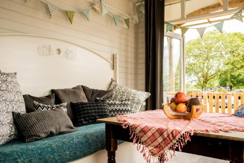A seating area at Burren Glamping
