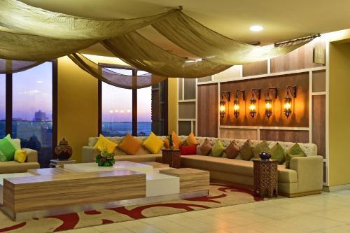 Лаундж или бар в Pestana Casablanca, Seaside Suites & Residences