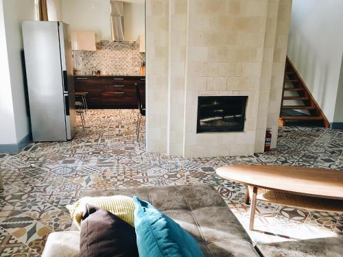 Кровать или кровати в номере Country house in Chernichnoe