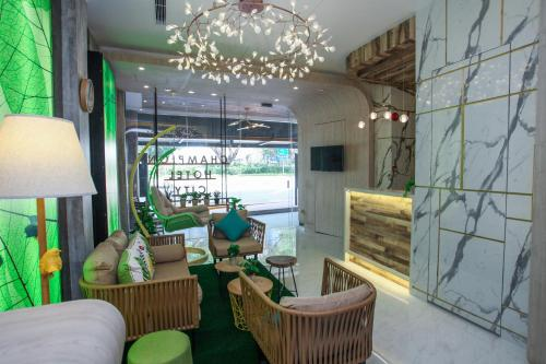 The lounge or bar area at Champion Hotel City (SG Clean, Staycation Approved)