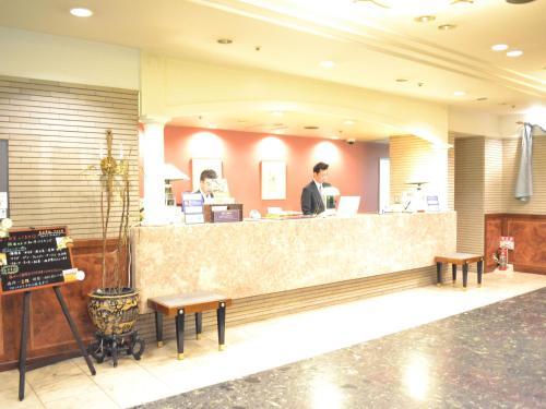 The lobby or reception area at Hotel Crown Hills Koriyama