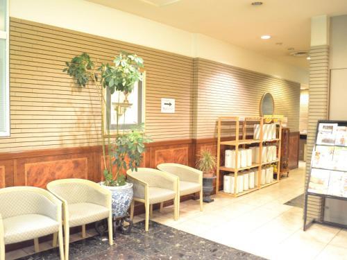 The lounge or bar area at Hotel Crown Hills Koriyama
