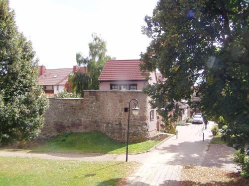 A garden outside Ferienhaus Kyffhäuser