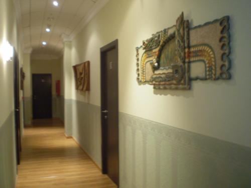 The lobby or reception area at Hotel Gardu