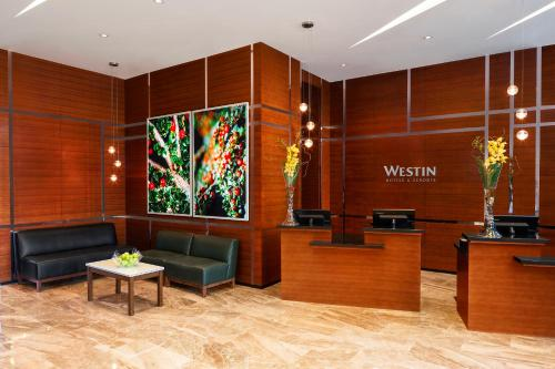 The lounge or bar area at The Westin Wall Centre, Vancouver Airport
