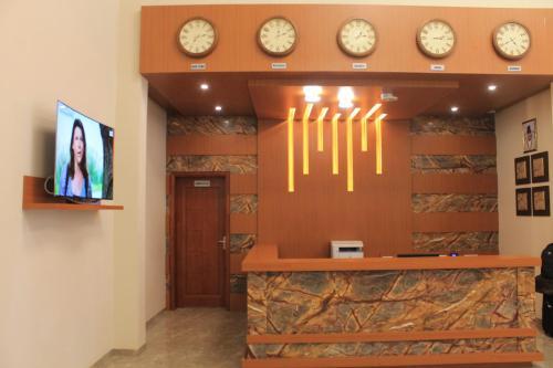 The lobby or reception area at Hotel Moon Palace Kolwezi